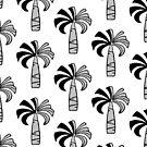 Pupule Vintage Palm Tree Hawaiian - Black and White by DriveIndustries