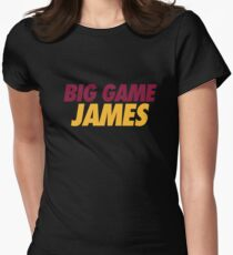 BIG GAME JAMES  Womens Fitted T-Shirt