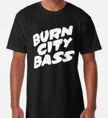 Burn City Bass (White) Long T-Shirt