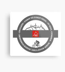 Mountain Bike T-Shirt - Coast To Coast - East Peak Apparel Metal Print