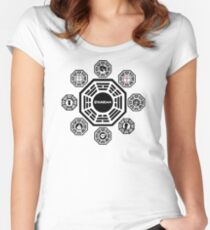 Dharma Initiative Women's Fitted Scoop T-Shirt