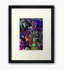 The Shape of Orchids Framed Print