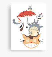 Neighborhood Friends Umbrella Canvas Print