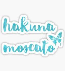 Hakuna Moscato - blue Sticker