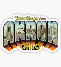 Greetings from Akron, Ohio Sticker