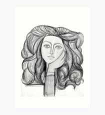FRANCOISE 1946 : Vintage Abstract Charcoal Print Art Print