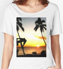 Palm Tree Sunset Women's Relaxed Fit T-Shirt