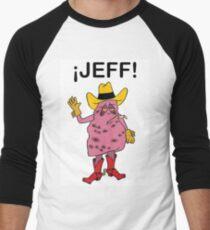 Meet Jeff the Diseased Lung! Men's Baseball ¾ T-Shirt
