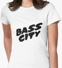 Bass City (Black) Women's Fitted T-Shirt