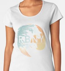 Rockaway Beach Wave Premium Scoop T-Shirt
