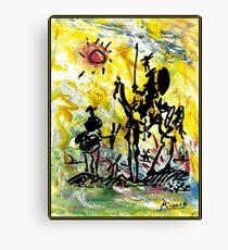 DON QUIXOTE: Vintage abstrakte Malerei drucken Leinwanddruck