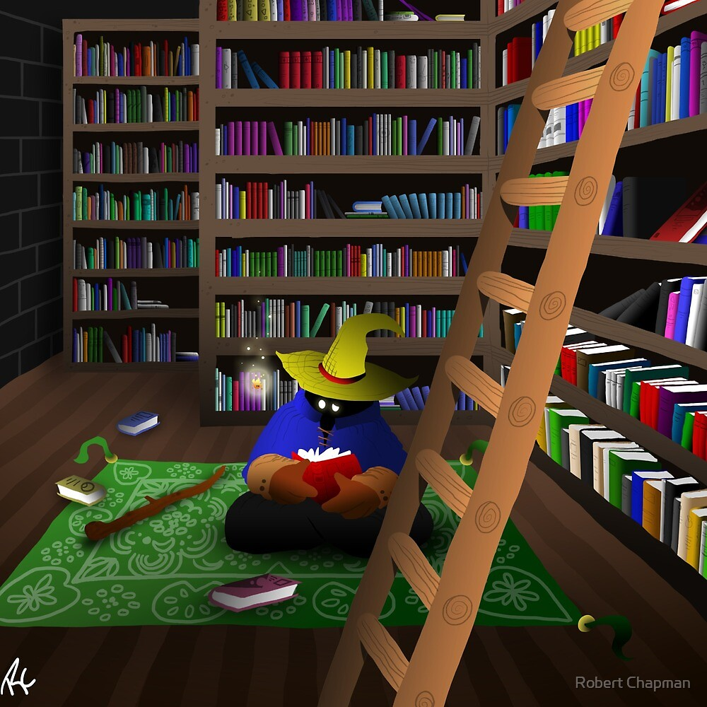 Black Mage in Library by Robert Chapman