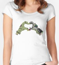 Power Glove zombie heart Women's Fitted Scoop T-Shirt
