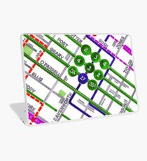 San Francisco map - Tenderloin Laptop Skin