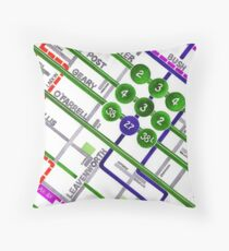 San Francisco map - Tenderloin Throw Pillow