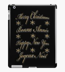 Merry Christmas Happy New Year iPad Case/Skin