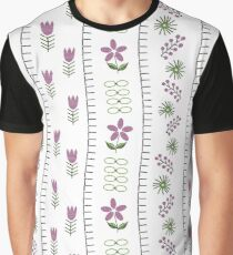 Needlepoint Embrodery Graphic T-Shirt