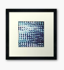 Abstract sea pixel pattern  Framed Print