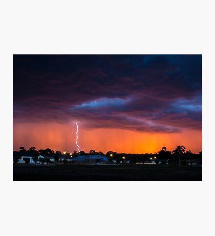 Lightning Sunset Photographic Print