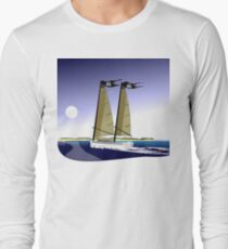 Freedom 35 Cat Ketch - Sailboat-Pirate Ship  T-Shirt