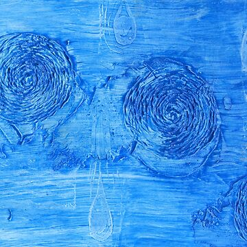 Ocean Currents  - Mixed Media by Heatherian
