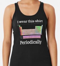I Wear This Shirt Periodically Racerback Tank Top