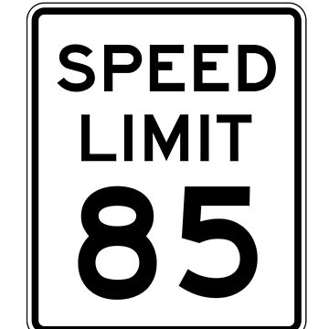 85 Miles Per Hour (MPH) by Basement Mastermind T-Shirt by BasementMaster