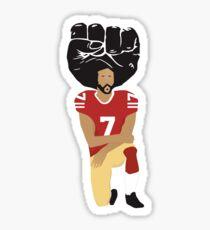 Colin Kaepernick Kneeling - I'm With Kap Sticker
