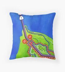 San Francisco map - Presidio Throw Pillow