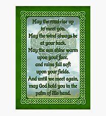 Green Irish Blessing Photographic Print