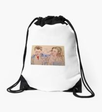 Back to the future Drawstring Bag