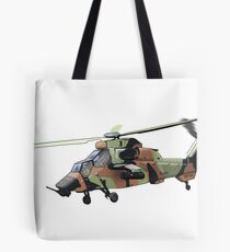 Tiger Helicopter Tote Bag