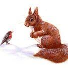 red squirrel by Liesl Yvette Wilson