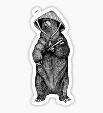 Asian Bear Sticker