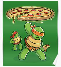 Delicious Disk Attack - Ninja Turtles Poster