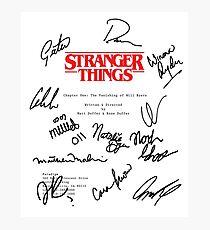 Stranger Things Script Photographic Print