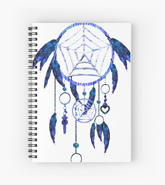 Cuadernos de espiral «Dream Catcher Blue Native American Indian ...