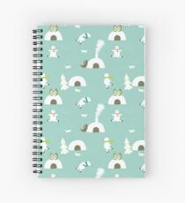 The polar bear skate-off Spiral Notebook