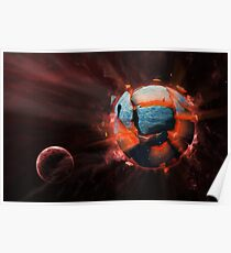 Exploding Planet Poster