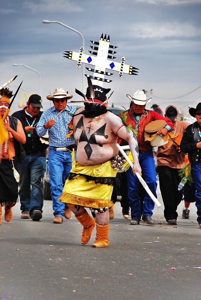 Apache crown dancers by Jenson Yazzie