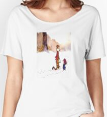 calvin and hobbes Snow Women's Relaxed Fit T-Shirt