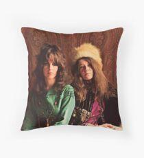 Queens of Rock! Grace & Janis Throw Pillow
