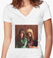 Queens of Rock! Grace & Janis Women's Fitted V-Neck T-Shirt