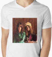 Queens of Rock! Grace & Janis Men's V-Neck T-Shirt