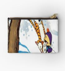 calvin and hobbes happy snow Studio Pouch