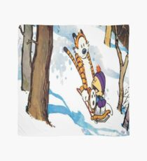 calvin and hobbes happy snow Scarf