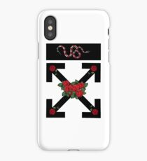 off white roses iPhone Case/Skin