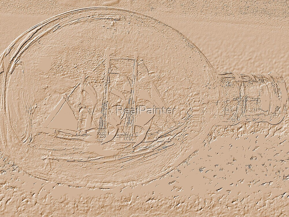 Message in a bottle i found it in the Sand by RealPainter