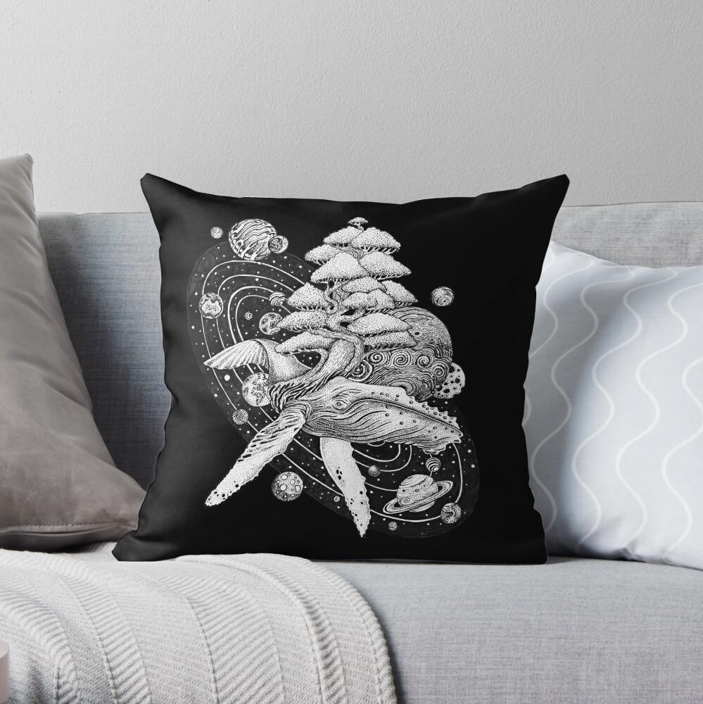 Ballena Espacial Cojín