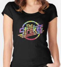 The Strokes - Psychedelic Logo Women's Fitted Scoop T-Shirt